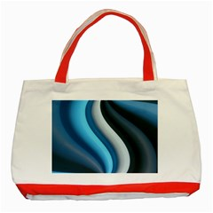 Abstract Pattern Lines Wave Classic Tote Bag (red) by Nexatart
