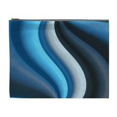 Abstract Pattern Lines Wave Cosmetic Bag (xl) by Nexatart