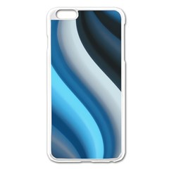 Abstract Pattern Lines Wave Apple Iphone 6 Plus/6s Plus Enamel White Case by Nexatart