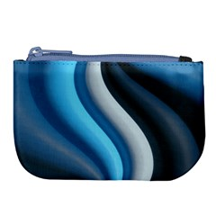 Abstract Pattern Lines Wave Large Coin Purse by Nexatart