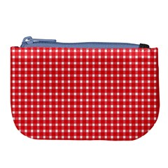 Pattern Diamonds Box Red Large Coin Purse