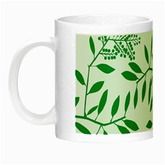 Leaves Foliage Green Wallpaper Night Luminous Mugs