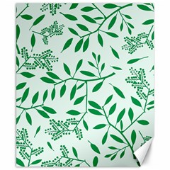 Leaves Foliage Green Wallpaper Canvas 8  X 10  by Nexatart