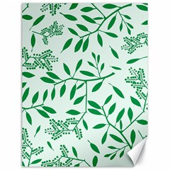 Leaves Foliage Green Wallpaper Canvas 18  X 24   by Nexatart