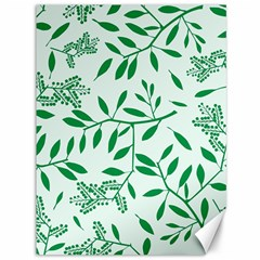 Leaves Foliage Green Wallpaper Canvas 36  X 48   by Nexatart