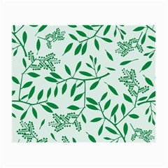 Leaves Foliage Green Wallpaper Small Glasses Cloth (2 Side) by Nexatart