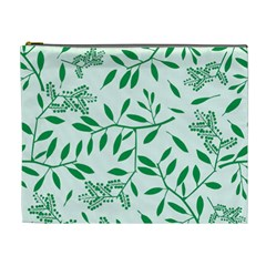 Leaves Foliage Green Wallpaper Cosmetic Bag (xl) by Nexatart