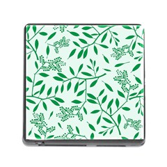Leaves Foliage Green Wallpaper Memory Card Reader (square) by Nexatart