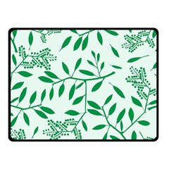 Leaves Foliage Green Wallpaper Fleece Blanket (small) by Nexatart