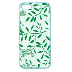 Leaves Foliage Green Wallpaper Apple Seamless Iphone 5 Case (color) by Nexatart