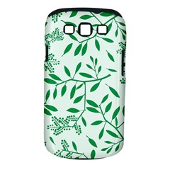Leaves Foliage Green Wallpaper Samsung Galaxy S Iii Classic Hardshell Case (pc+silicone) by Nexatart