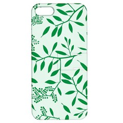 Leaves Foliage Green Wallpaper Apple Iphone 5 Hardshell Case With Stand by Nexatart