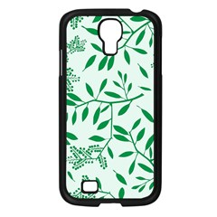 Leaves Foliage Green Wallpaper Samsung Galaxy S4 I9500/ I9505 Case (black) by Nexatart