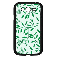 Leaves Foliage Green Wallpaper Samsung Galaxy Grand Duos I9082 Case (black) by Nexatart