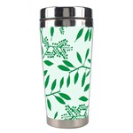 Leaves Foliage Green Wallpaper Stainless Steel Travel Tumblers Left