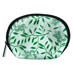 Leaves Foliage Green Wallpaper Accessory Pouches (medium)  by Nexatart
