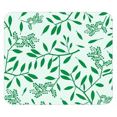 Leaves Foliage Green Wallpaper Double Sided Flano Blanket (small)  by Nexatart