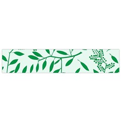 Leaves Foliage Green Wallpaper Flano Scarf (small)
