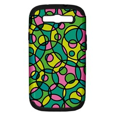 Circle Background Background Texture Samsung Galaxy S Iii Hardshell Case (pc+silicone)