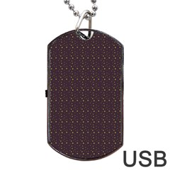 Pattern Background Star Dog Tag Usb Flash (two Sides)
