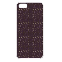 Pattern Background Star Apple Iphone 5 Seamless Case (white)