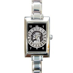 Pattern Motif Decor Rectangle Italian Charm Watch by Nexatart