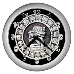 Pattern Motif Decor Wall Clocks (silver)  by Nexatart