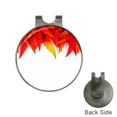Abstract Autumn Background Bright Hat Clips With Golf Markers by Nexatart