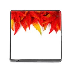 Abstract Autumn Background Bright Memory Card Reader (square)