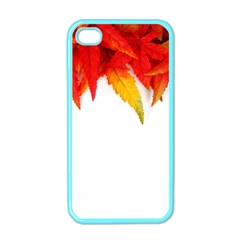 Abstract Autumn Background Bright Apple Iphone 4 Case (color) by Nexatart