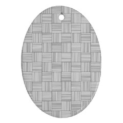 Flooring Household Pattern Oval Ornament (two Sides) by Nexatart
