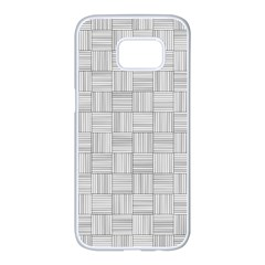 Flooring Household Pattern Samsung Galaxy S7 Edge White Seamless Case by Nexatart