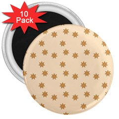 Pattern Gingerbread Star 3  Magnets (10 Pack)