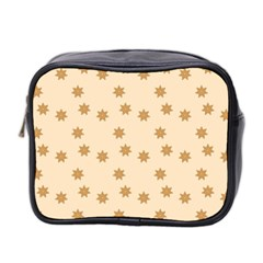 Pattern Gingerbread Star Mini Toiletries Bag 2 Side by Nexatart