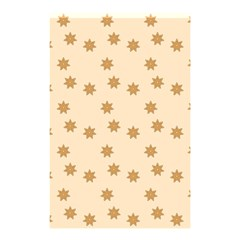 Pattern Gingerbread Star Shower Curtain 48  X 72  (small)  by Nexatart