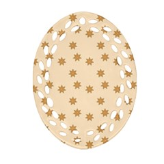 Pattern Gingerbread Star Oval Filigree Ornament (two Sides) by Nexatart