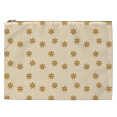 Pattern Gingerbread Star Cosmetic Bag (xxl)  by Nexatart