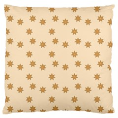 Pattern Gingerbread Star Large Flano Cushion Case (two Sides) by Nexatart