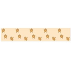 Pattern Gingerbread Star Flano Scarf (large)