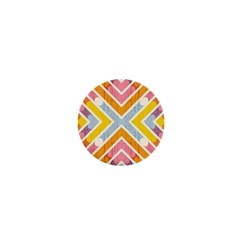 Line Pattern Cross Print Repeat 1  Mini Magnets by Nexatart