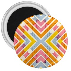 Line Pattern Cross Print Repeat 3  Magnets by Nexatart