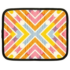 Line Pattern Cross Print Repeat Netbook Case (xl)  by Nexatart