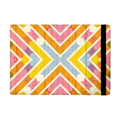 Line Pattern Cross Print Repeat Apple Ipad Mini Flip Case by Nexatart