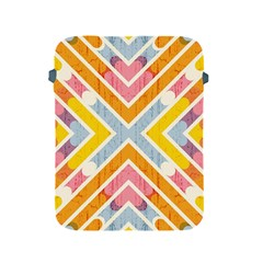 Line Pattern Cross Print Repeat Apple Ipad 2/3/4 Protective Soft Cases by Nexatart