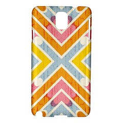 Line Pattern Cross Print Repeat Samsung Galaxy Note 3 N9005 Hardshell Case by Nexatart