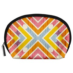 Line Pattern Cross Print Repeat Accessory Pouches (large)  by Nexatart