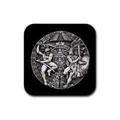 Pattern Motif Decor Rubber Coaster (square)  by Nexatart