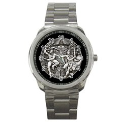 Pattern Motif Decor Sport Metal Watch by Nexatart