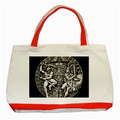 Pattern Motif Decor Classic Tote Bag (red) by Nexatart
