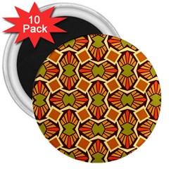 Geometry Shape Retro Trendy Symbol 3  Magnets (10 Pack)  by Nexatart